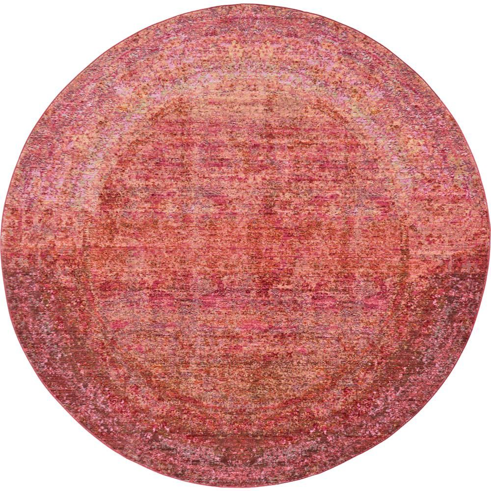 Unique Loom Austin Muse Red 6 0 X 6 0 Round Rug Area Rugs