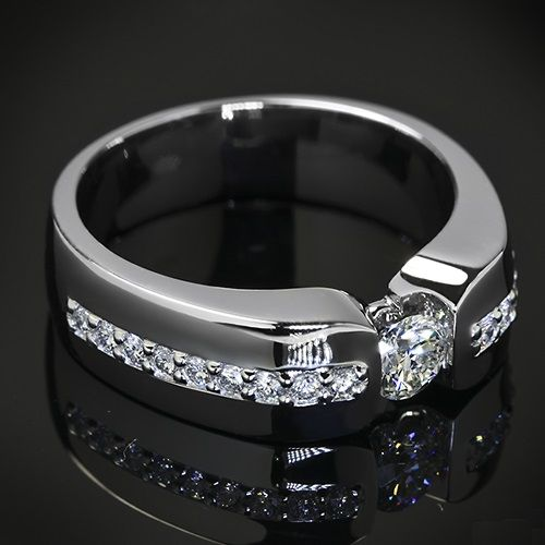 Amazing Men deserve diamonds too u This Custom Men us Diamond Wedding Ring is set in Platinum and holds A CUT ABOVE Hearts and Arrows Diamond Melee along the shank