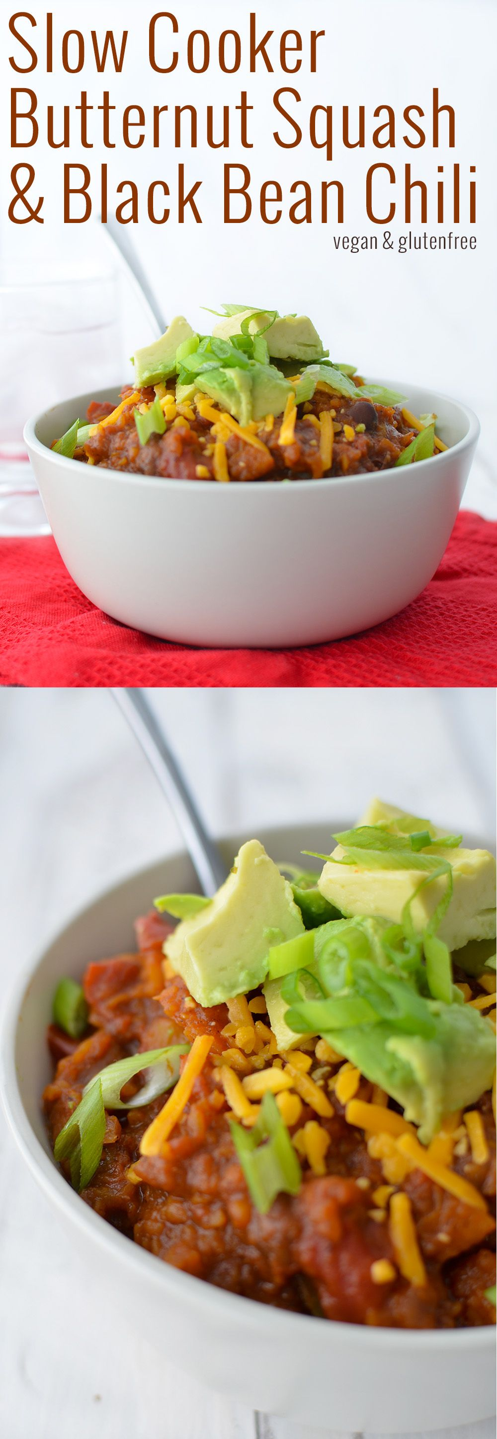 Slow Cooker Butternut Squash and Black Bean Chili! Vegan and Gluten ...