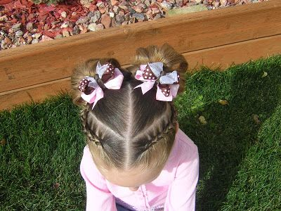 Split French Braid Headband & Pigtails