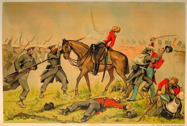 Batalla de Oriamendi. Marzo 1837, los carlistas derrotaban a la Legión inglesa