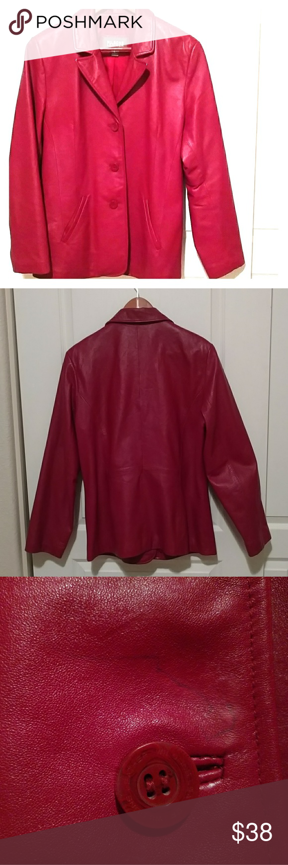 Wilsons Leather jacket, red Wilsons leather jacket