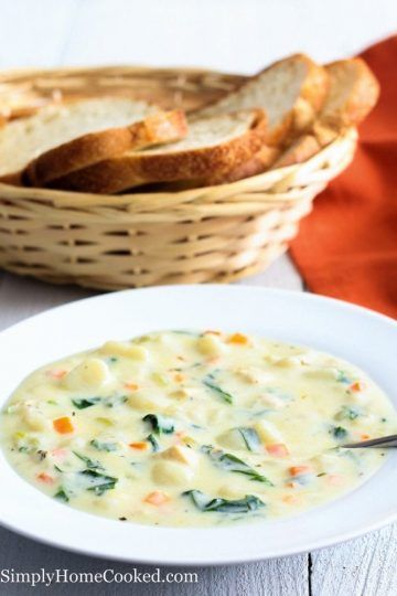 Chicken Gnocchi Soup (Olive Garden Copycat) - Simply Home Cooked
