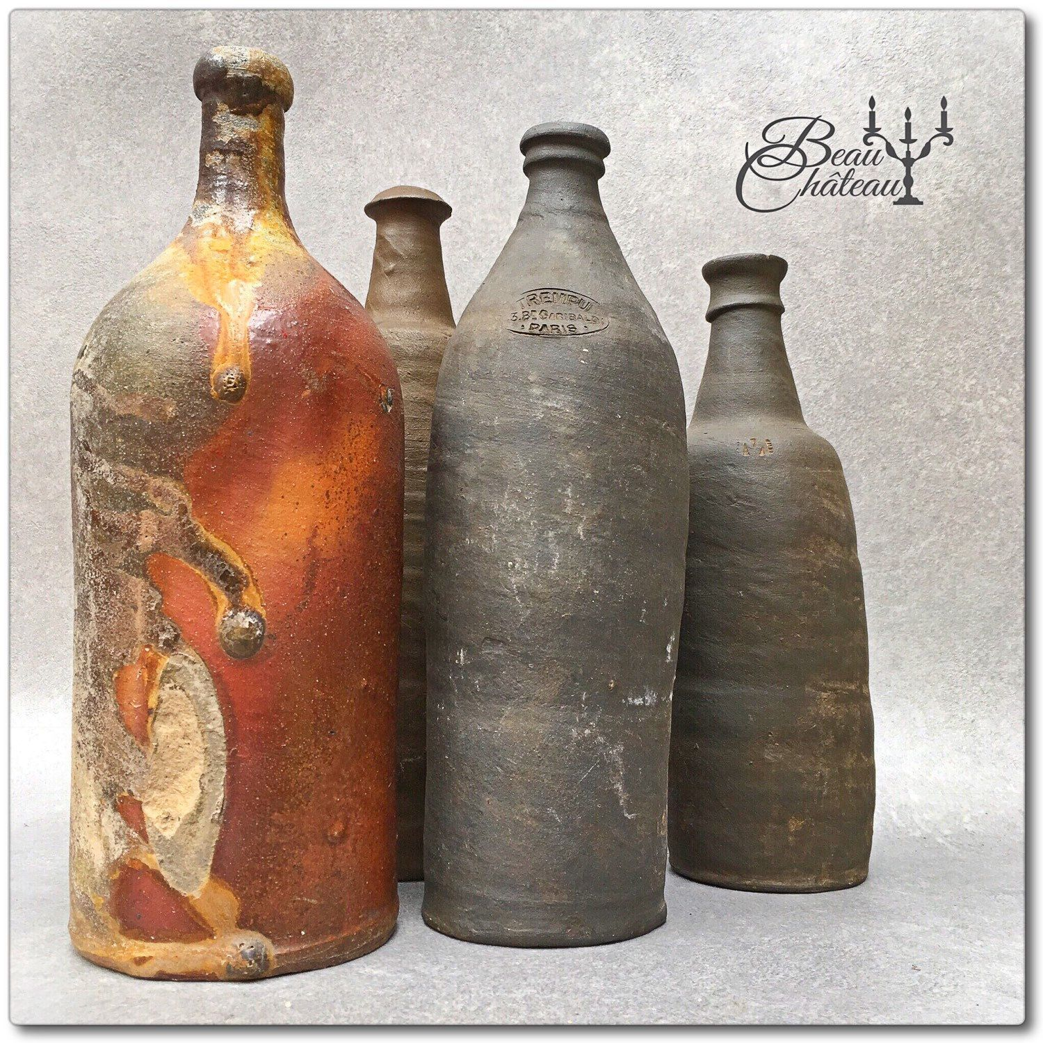 Interesting Bottles My Collection Of Ancient Primitive Stoneware Bottles From France