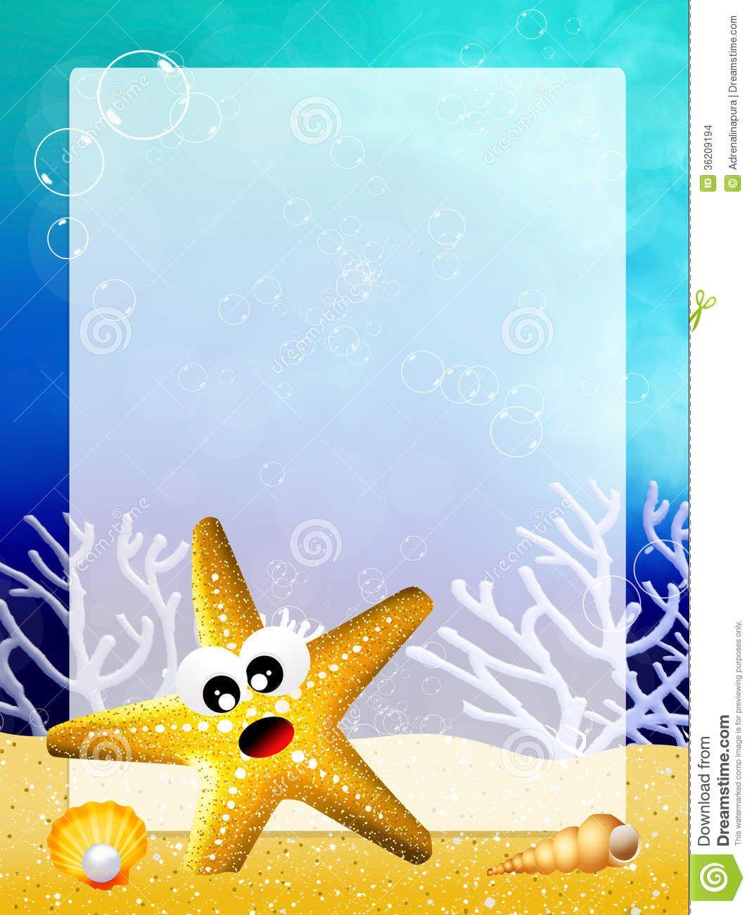 estrellas-de-mar-con-el-marco-36209194.jpg (1069×1300)
