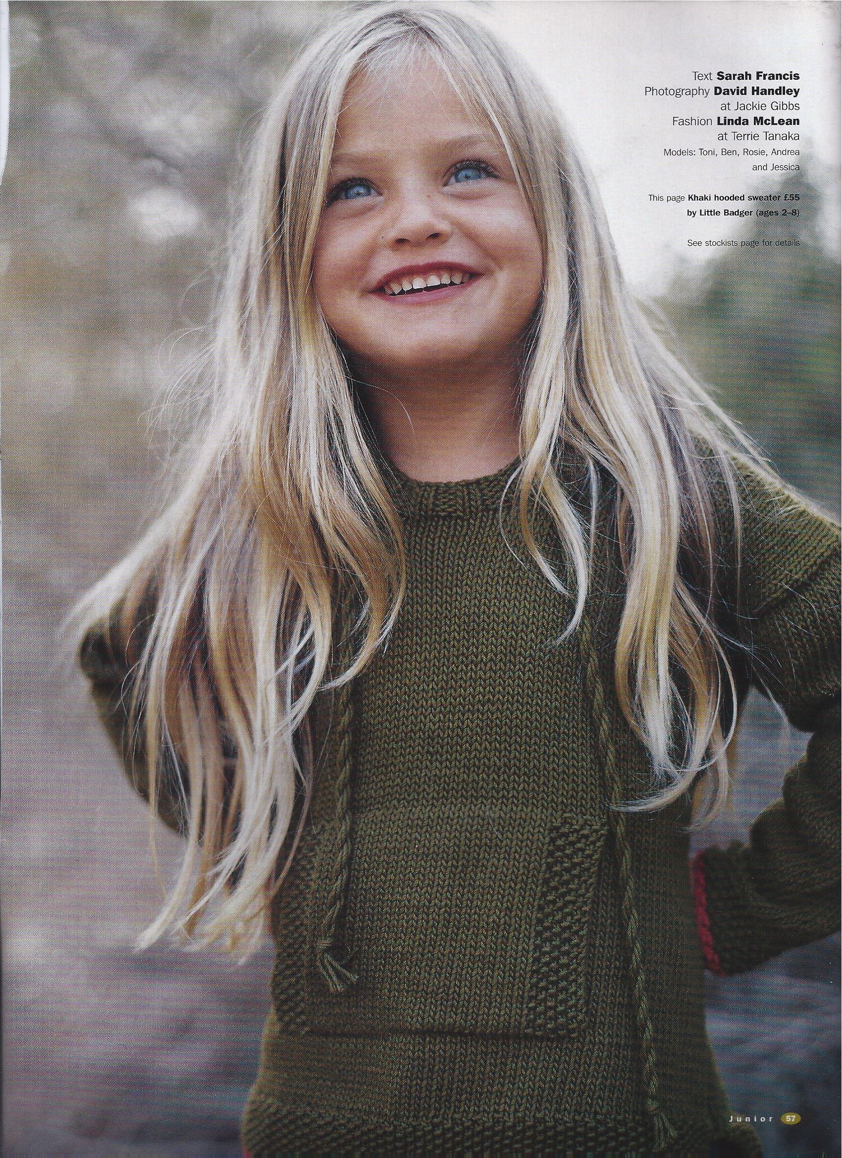 Khaki Hand knitted hoody from Little Badger www.littlebadger.co.uk
