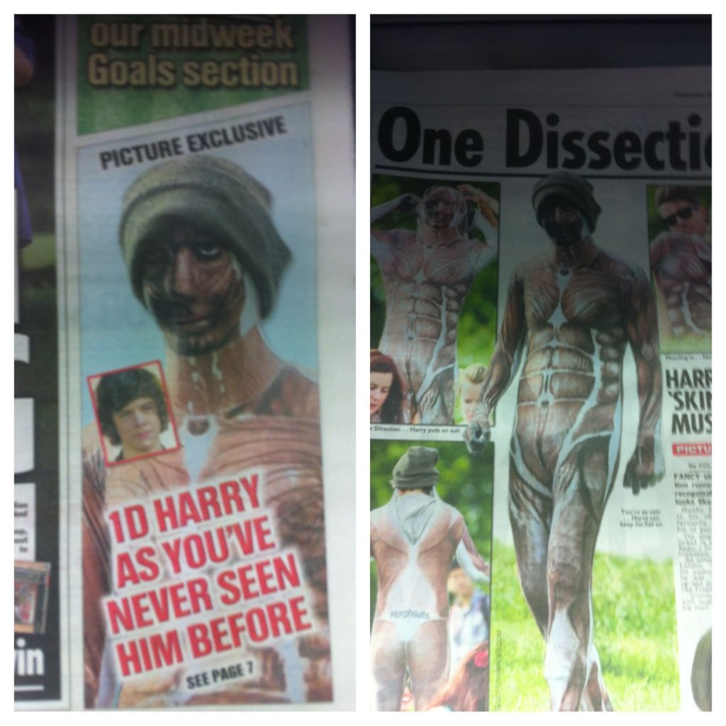 Harry in the newspaper <3 haha One Dissection