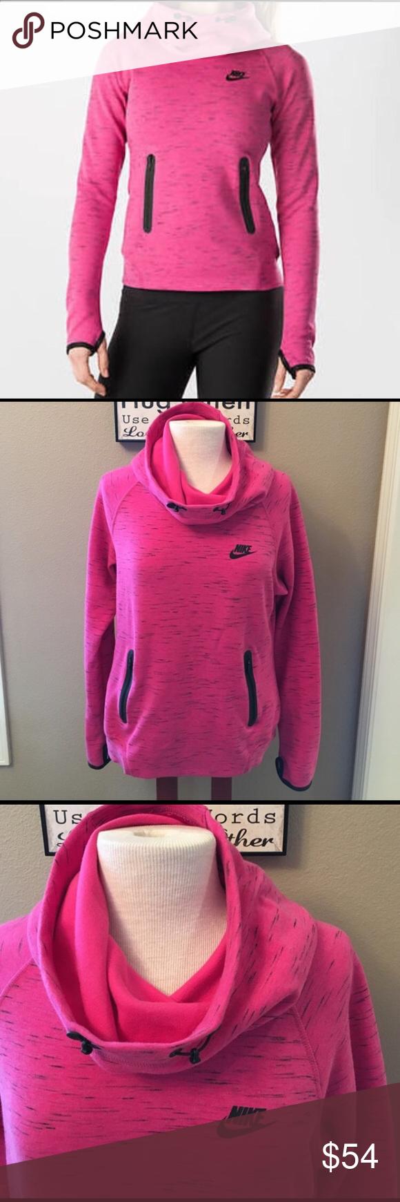Nike Tech Fleece Hoodie, Sz L Beautiful pink and black