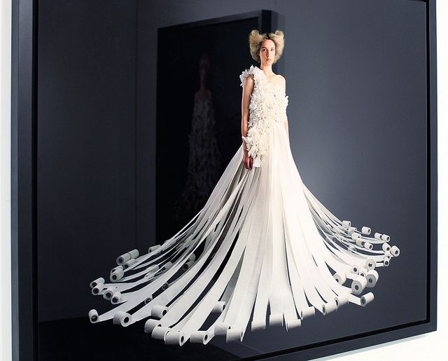 Toilet paper dress    Fashions Made of Paper  Etc    Pinterest     Charmin Toilet Paper Wedding Dress