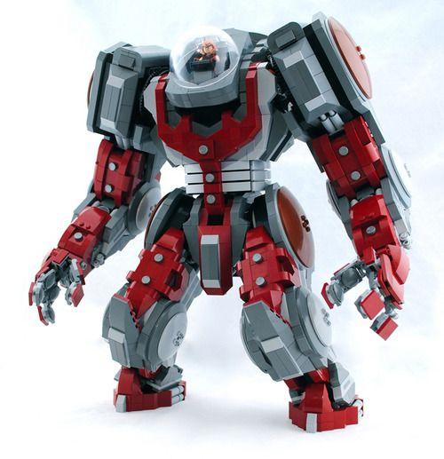 Custom Built Lego Atlas Mech Marvel Juggernaut Minifigure Lego Mecha Lego Cool Lego Creations