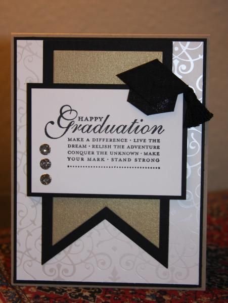 Graduation In Black And Gold Cards Graduation Pinterest