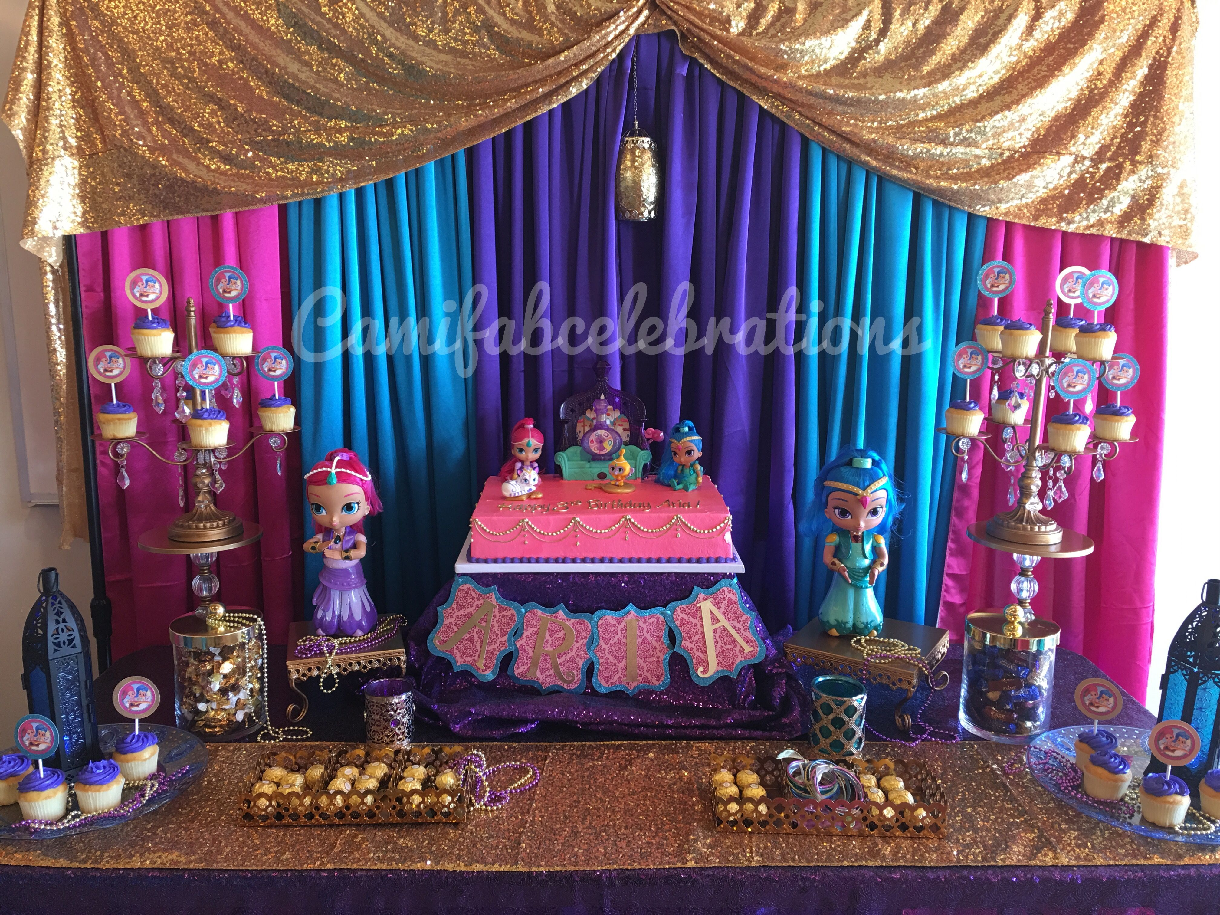 Shimmer and Shine Birthday Party | Crafts & party ideas ...