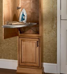 Exceptional Wall Ironing Board Cabinet Stores Your Ironing Board Out Of Sight, But  Opens Easily For Use. By KraftMaid Cabinets, Available At Just Cabinets  Furniture ...