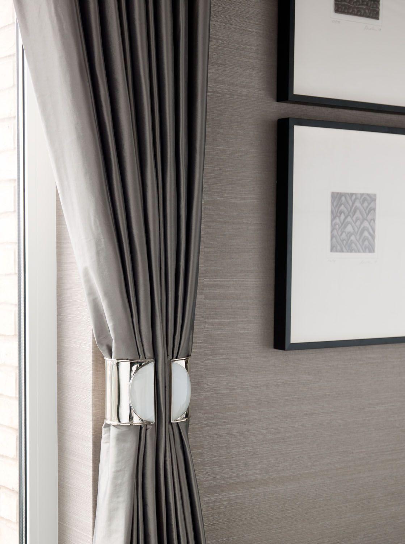 White curtain wallpaper - Curtain Ties