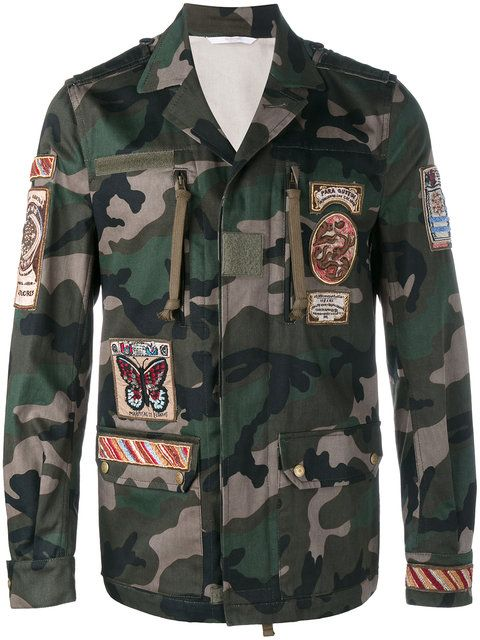 Jacket Box Cigar Valentino Field Camouflage Appliqué v5fX0Owq