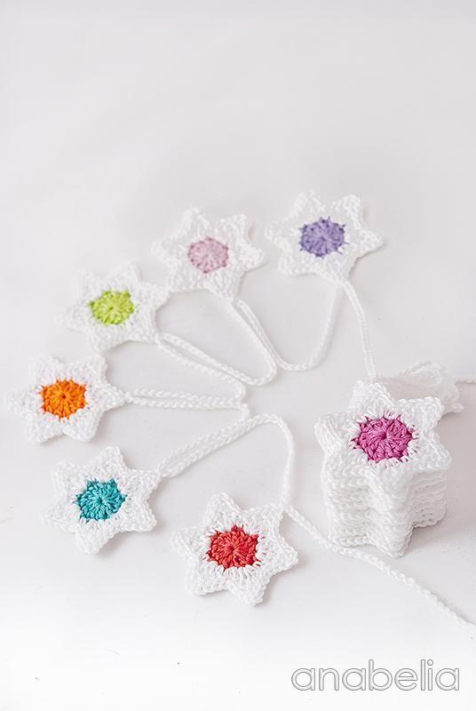 DIY: Cómo hacer un guirnalda de crochet para Navidad | patrones ...