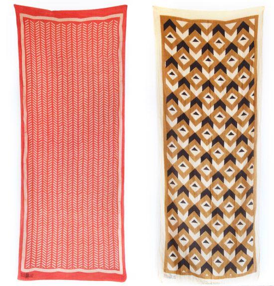 Blockshop scarves and Hand block printed textiles 5