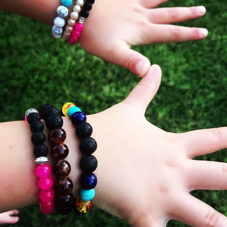 Essential oils for kids lava stone beaded bracelets for