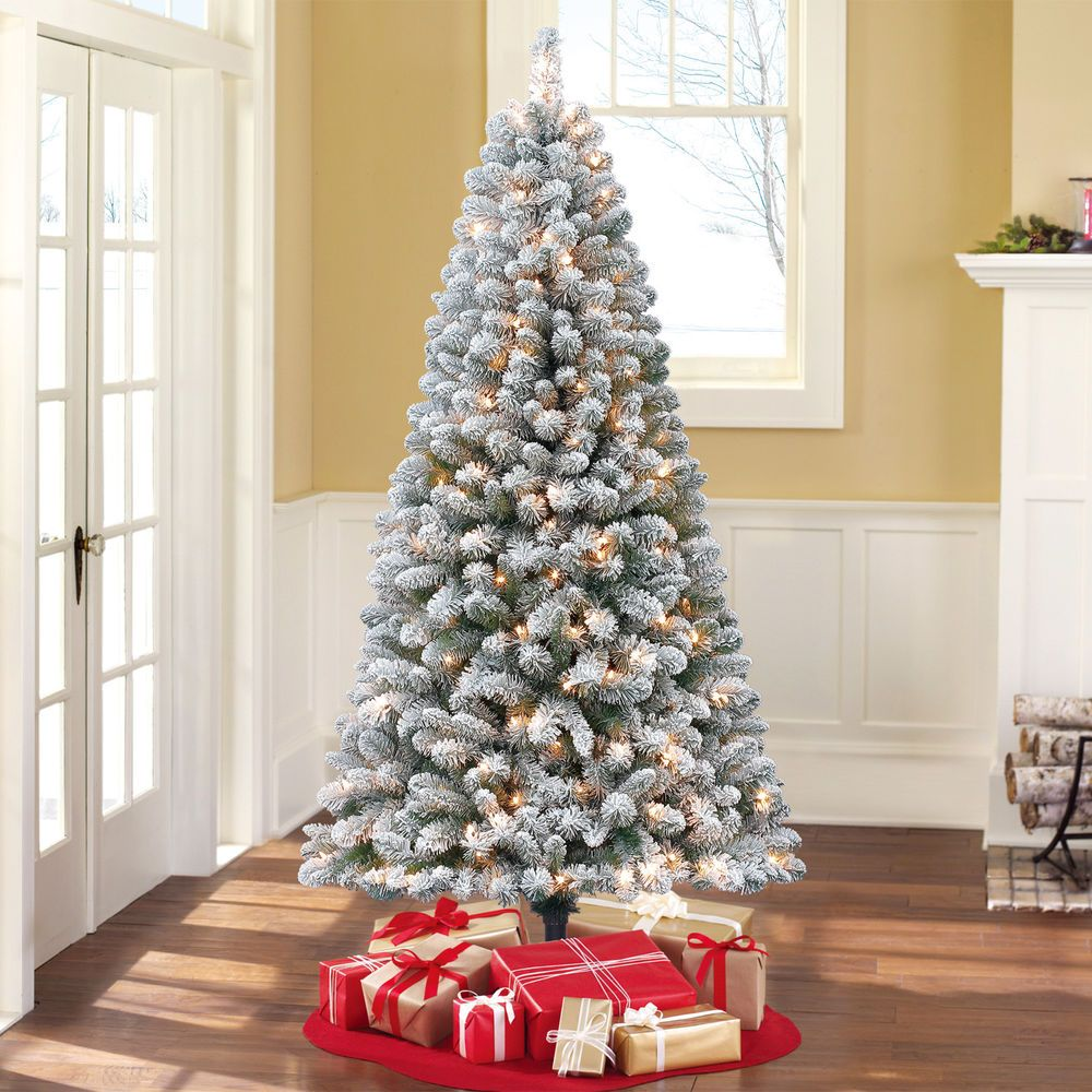 Holiday Time Pre Lit 6 5 Crystal Pine Pre Lit Christmas Tree Christmas Lights Holidaytime Christmas Tree Clear Lights White Christmas Decor Holiday Decor