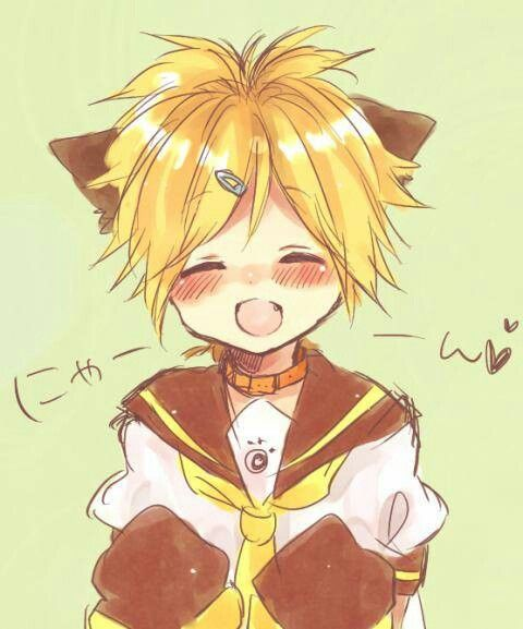 Len! LOVE HIM!!!!!! SOOOOO MUCH THAT I WOULD WAIT MY ETERNITY FOR HIM!!!! BUT SADLY, HE'S DESTINED TO RIN. Don't worry! RInxLen fan so Rin and Len 4 EVR!