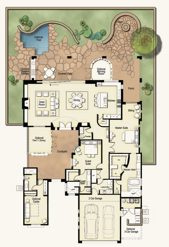 Casa Floorplan Luxury Real Estate Dove Mountain Marana Floor Plans Dream House Plans Large House Plans