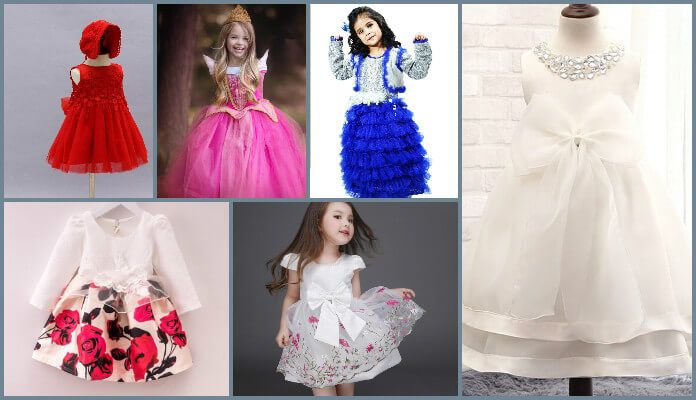 c4b15f22c Little Girl Fancy Party Wear Frocks, Stylish Kids Western Dresses, Designer Occasion  Wear Dress for Baby Girls