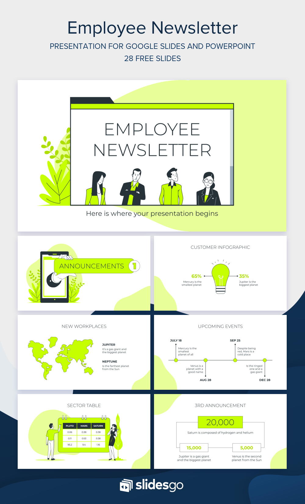 Share Announcements With Your Employees With This Newsletter Download It Now As Google Slides Theme Or Powerpoint Template