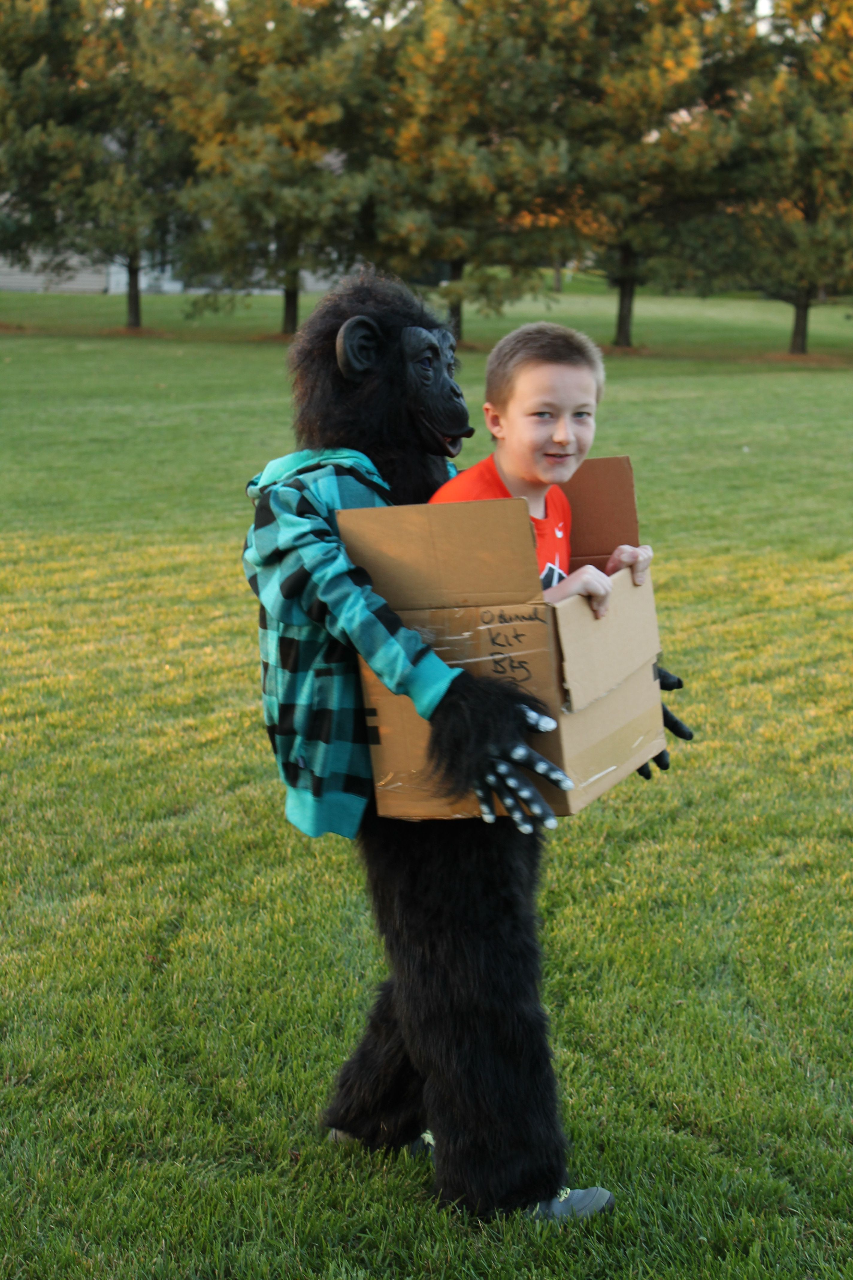 Kev S 5th Grade Halloween Costume Boy In A Box Being Carried By