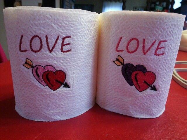 Valentine toilet paper