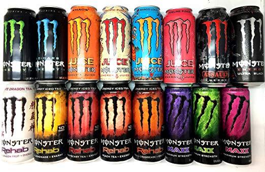 Amazon Com Monster Energy Drink Sampler Pack 16 Count Grocery Gourmet Fo Monster Energy Drink Monster Energy Monster