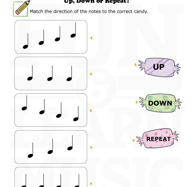 Music-Worksheets-Up-Down-Repeat-003 | Music Worksheets | Pinterest ...