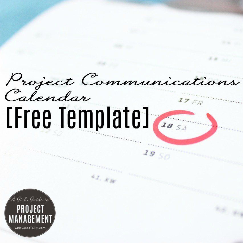 10 Free Project Management Templates u2022 Girlu0027s Guide to Project - free project management calendar template