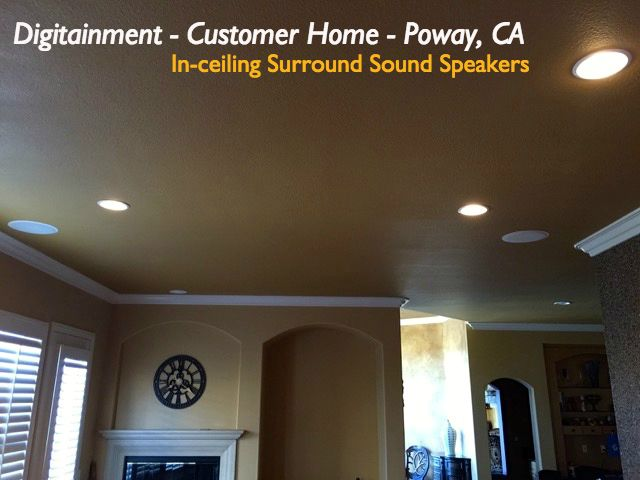 in ceiling speakers all hidden wiring beautiful home theater rh pinterest ca