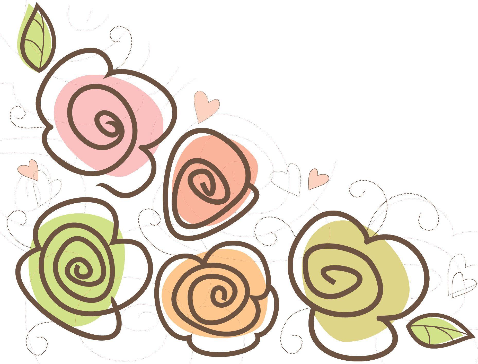 可愛い花のイラスト-ハート・シンプル・葉 | face painting