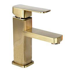 Photo of Brass fittings in the bathroom