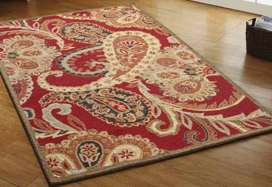 Provencal Floor Rug Red By Mulberi From Harvey Norman New Zealand