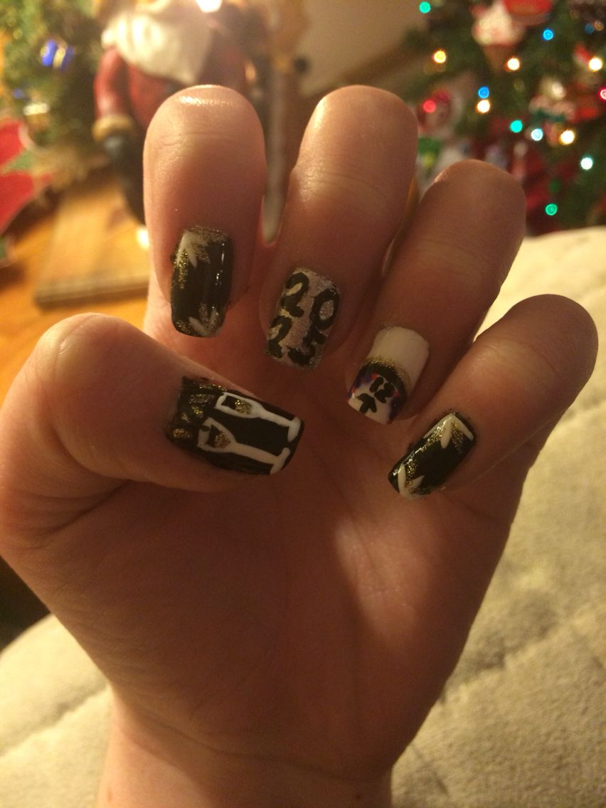 My New Years Nails New year's nails, Nail art, Nails