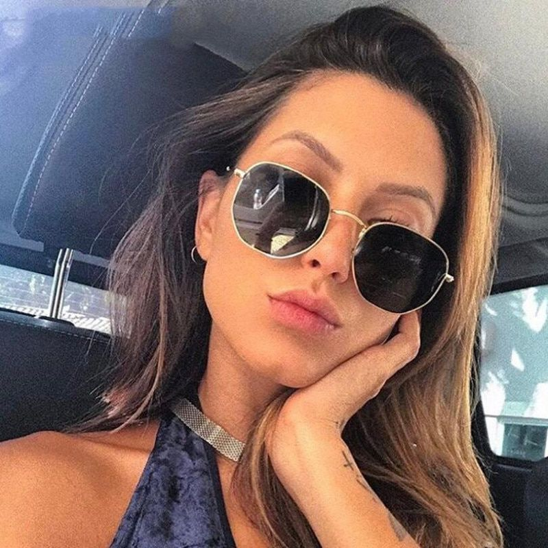 e246a6da6c4fb 2019 Fashion Square Sunglasses Women Brand Designer Mirror Retro Vintage  Female Sunglass Lady Sun Glasses For Women UV400 Oculos  eyewear   accessories ...