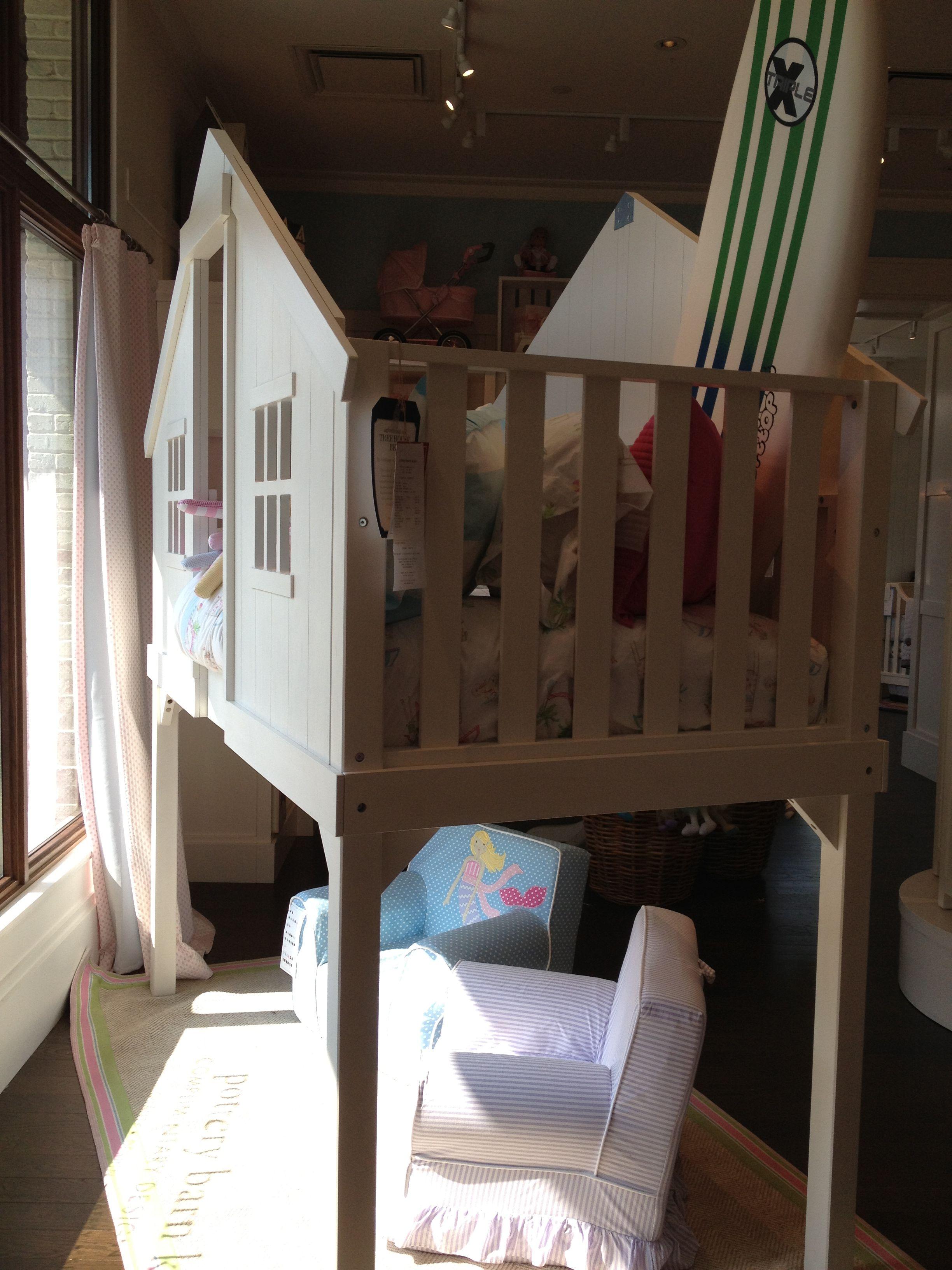 Pottery Barn White Treehouse Bunk Bed Floor Model Sale 896