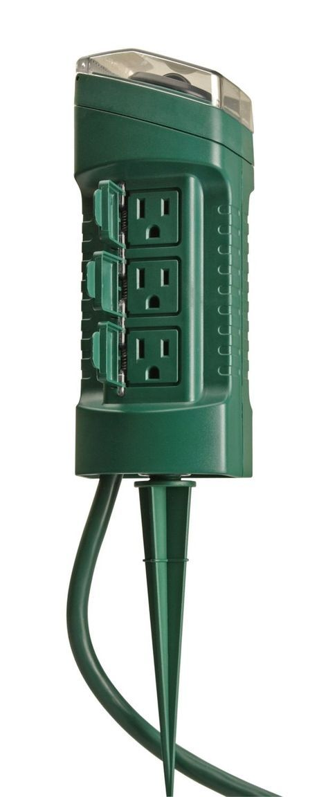Coleman Cable 13547 6 Outlet Yard Stake With Timer