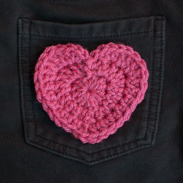 Crochet Heart Applique Pattern ... Perfect for Valentine\'s Day ...