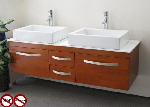 Pics Of Aspen Solid Wood Double Bathroom Vanity in Toffee Finish by Amamchyan Industries http
