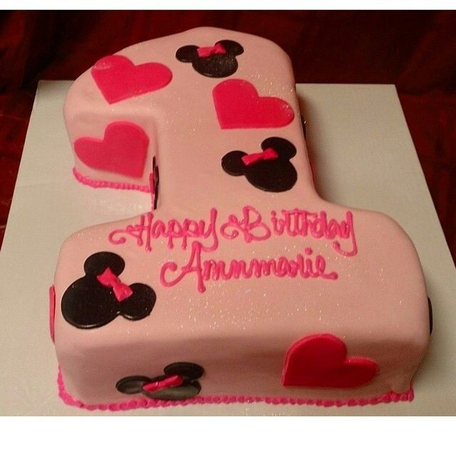 Minnie Mouse number one first birthday cake 2nd birthdaybaptism