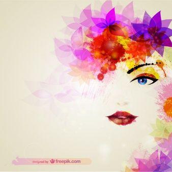 Descarga gratis Illustración Cara De Mujer Con Colores ...