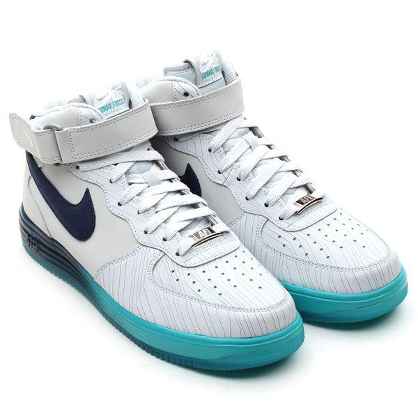 Nike Lunar Force 1 Mid LTHR - Pure Platinum / Squadron Blue | Sole  Collector #