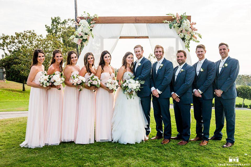 San Diego wedding at lomas santa fe country club bride strapless ...