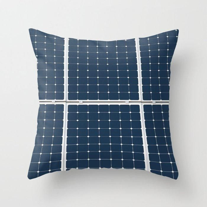 Image Of A Solar Power Panel. Free Clean Energy For Everyone Throw Pillow