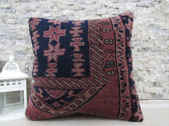 16x16 floor cushion decorative carpet pillow sofa pillow bohemian pillow 16x16 handmade carpet pillow natural pillow throw pillow