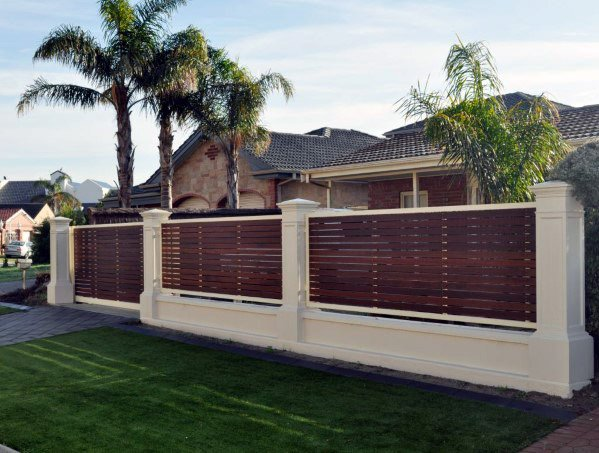 Top 60 Best Front Yard Fence Ideas Outdoor Barrier Designs Modern Front Yard Fence Design Front Yard Fence