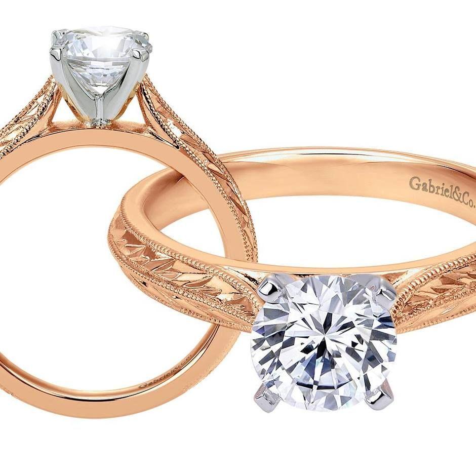 Engagement Rings York: Gabriel & Co. New York Diamond #engagement Ring In Rose